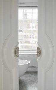 Bathroom door detail